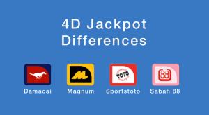 4D Jackpot Differences - Damacai, Magnum, Sportstoto, Sabah 88
