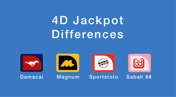 4D Jackpot Differences - Damacai, Magnum, Sportstoto, Sabah 88